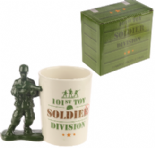 Toy Soldier with Gun Shaped Handle Mug